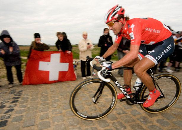 Fabian Cancellara est reconnu comme un cycliste ayant une très grande force