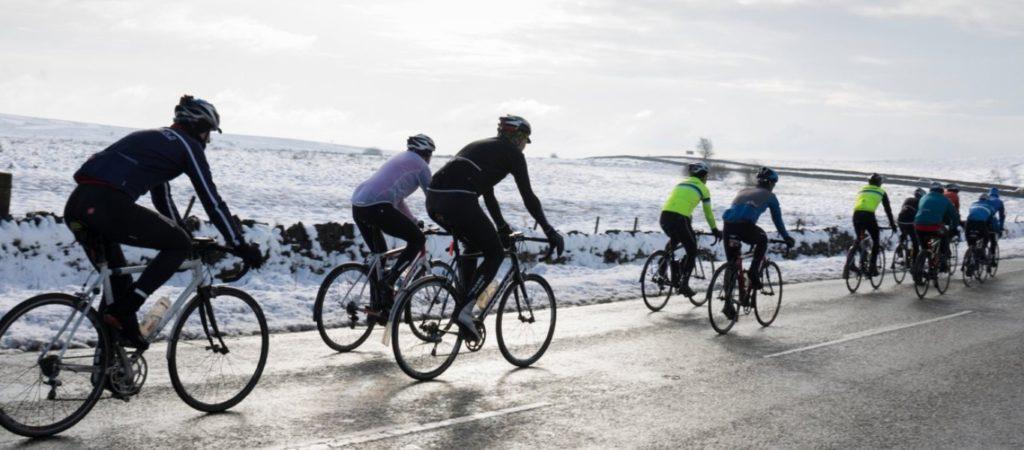 Faire du vélo l'hiver