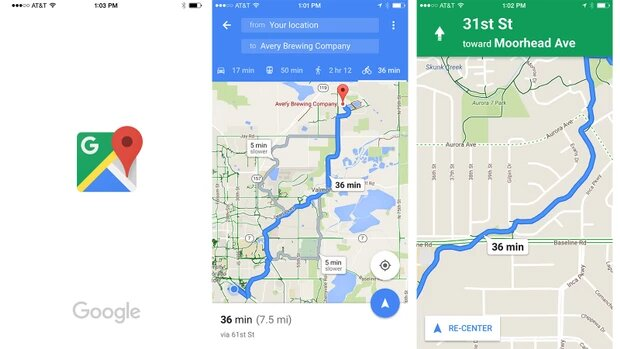 google maps velo